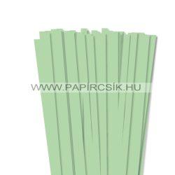 10mm stredne zelená papierové prúžky na quilling (50 ks, 49 cm)