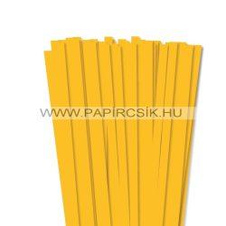 10mm sýtožltá papierové prúžky na quilling (50 ks, 49 cm)