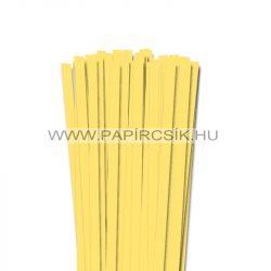10mm kanáriková žltá papierové prúžky na quilling (50 ks, 49 cm)