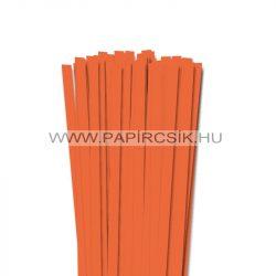 10mm svetlo oranžová papierové prúžky na quilling (50 ks, 49 cm)