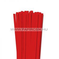 10mm korálovo červená  papierové prúžky na quilling (50 ks, 49 cm)