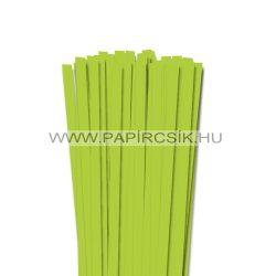 10mm jarná zelená papierové prúžky na quilling (50 ks, 49 cm)