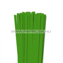 10mm zelená  papierové prúžky na quilling (50 ks, 49 cm)