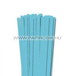 10mm azúrovo modrá papierové prúžky na quilling (50 ks, 49 cm)