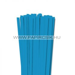 10mm modrá aqua papierové prúžky na quilling (50 ks, 49 cm)