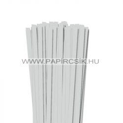 10mm svetlošedá papierové prúžky na quilling (50 ks, 49 cm)