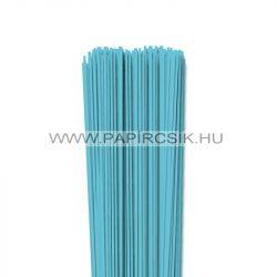 Aqua kék, 2mm-es quilling papírcsík (120db, 49cm)