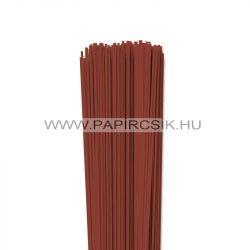 Vörösesbarna, 2mm-es quilling papírcsík (120db, 49cm)
