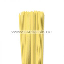 3mm kanáriková žltá papierové prúžky na quilling (120 ks, 49 cm)