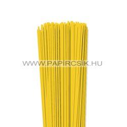 3mm žltá banánová papierové prúžky na quilling (120 ks, 49 cm)
