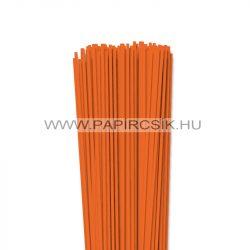 3mm svetlo oranžová papierové prúžky na quilling (120 ks, 49 cm)