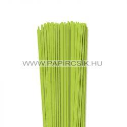 3mm jarná zelená papierové prúžky na quilling (120 ks, 49 cm)