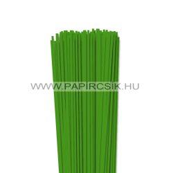 3mm zelená  papierové prúžky na quilling (120 ks, 49 cm)