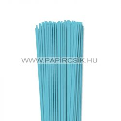 3mm modrá aqua papierové prúžky na quilling (120 ks, 49 cm)