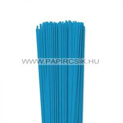 3mm azúrovo modrá papierové prúžky na quilling (120 ks, 49 cm)