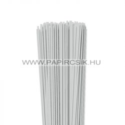 3mm svetlošedá papierové prúžky na quilling (120 ks, 49 cm)