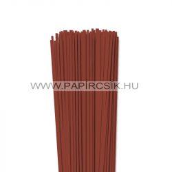Vörösesbarna, 3mm-es quilling papírcsík (120db, 49cm)