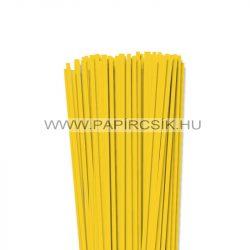 4mm žltá banánová papierové prúžky na quilling (110 ks, 49 cm)