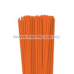 4mm svetlo oranžová papierové prúžky na quilling (110 ks, 49 cm)