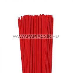 4mm korálovo červená  papierové prúžky na quilling (110 ks, 49 cm)