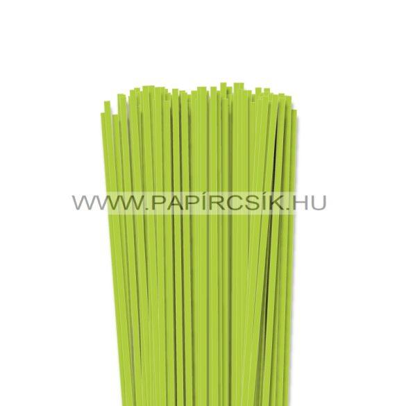 4mm jarná zelená papierové prúžky na quilling (110 ks, 49 cm)