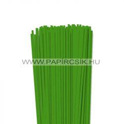 4mm zelená  papierové prúžky na quilling (110 ks, 49 cm)