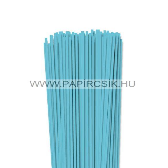 4mm modrá aqua papierové prúžky na quilling (110 ks, 49 cm)