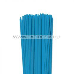 4mm azúrovo modrá papierové prúžky na quilling (110 ks, 49 cm)
