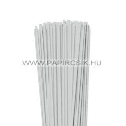4mm svetlošedá papierové prúžky na quilling (110 ks, 49 cm)