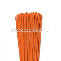 5mm svetlo oranžová papierové prúžky na quilling (100 ks, 49 cm)