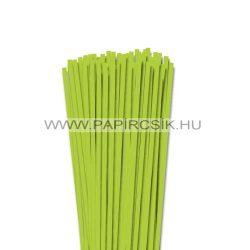 5mm jarná zelená papierové prúžky na quilling (100 ks, 49 cm)