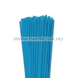 5mm azúrovo modrá papierové prúžky na quilling (100 ks, 49 cm)