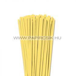 6mm kanáriková žltá papierové prúžky na quilling (90 ks, 49 cm)