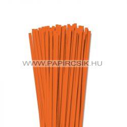6mm svetlo oranžová papierové prúžky na quilling (90 ks, 49 cm)
