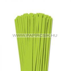 6mm jarná zelená papierové prúžky na quilling (90 ks, 49 cm)