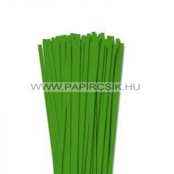 6mm zelená  papierové prúžky na quilling (90 ks, 49 cm)