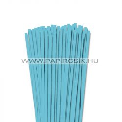 6mm azúrovo modrá papierové prúžky na quilling (90 ks, 49 cm)