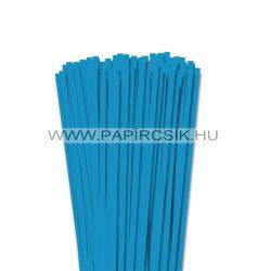 6mm modrá aqua papierové prúžky na quilling (90 ks, 49 cm)