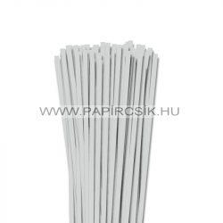 6mm svetlošedá papierové prúžky na quilling (90 ks, 49 cm)