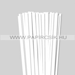 7mm Biela perleť (krémováova)papierové prúžky na quilling (80 ks, 49 cm)