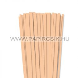 7mm telová / marhuľovápapierové prúžky na quilling (80 ks, 49 cm)