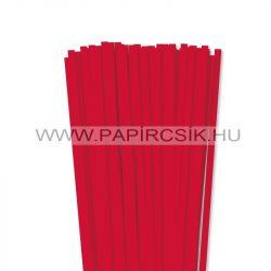 7mm červenápapierové prúžky na quilling (80 ks, 49 cm)