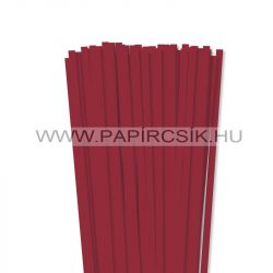 7mm tmavo červenápapierové prúžky na quilling (80 ks, 49 cm)