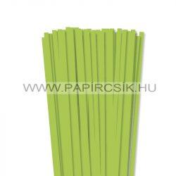 7mm zelená májovápapierové prúžky na quilling (80 ks, 49 cm)