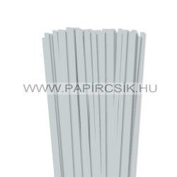 7mm svetlosivápapierové prúžky na quilling (80 ks, 49 cm)