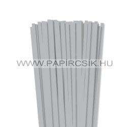 7mm striebornápapierové prúžky na quilling (80 ks, 49 cm)