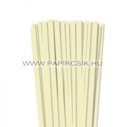 7mm vaniliapapierové prúžky na quilling (80 ks, 49 cm)