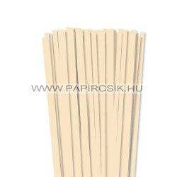 7mm krémovápapierové prúžky na quilling (80 ks, 49 cm)