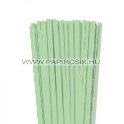 7mm stredne zelenápapierové prúžky na quilling (80 ks, 49 cm)