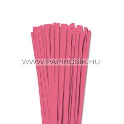 Közép rózsaszín, 7mm-es quilling papírcsík (80db, 49cm)